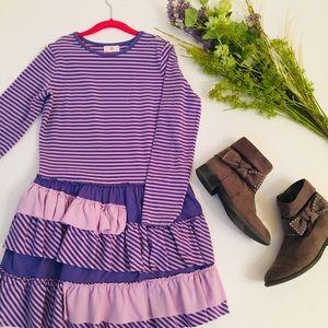 Hanna Andersson Purple Ruffle Dress, Size 10 (140)